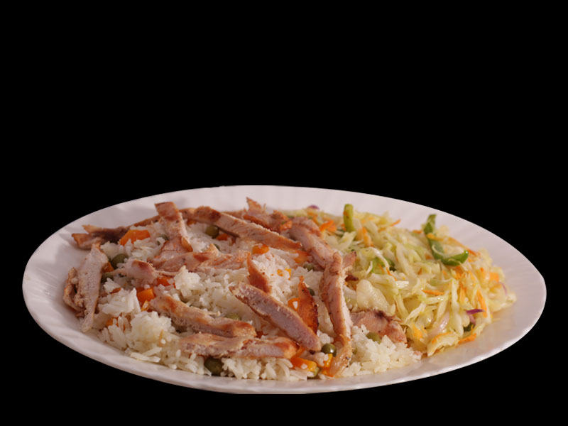 Flame Grill - Rice and Chicken Strips